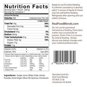 Quinoa, Kale & Hemp Nutrition Facts