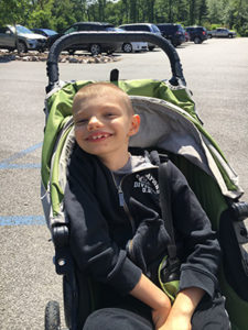 Special needs son stroller